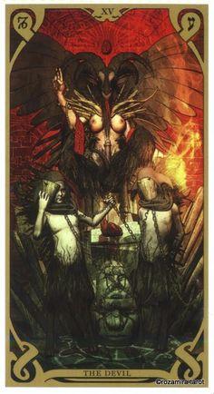 XV. The Devil - Night Sun Tarot by Fabio Listrani