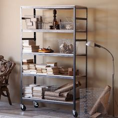 Design Workshop Rolling Carts | west elm (coffee area)