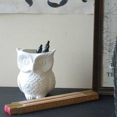 owl pencil pot and vase by monty's vintage shop | notonthehighstreet.com