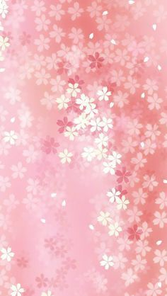 Pure Dreamy Pink Flower Pattern Background #iPhone #5s #wallpaper