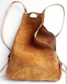Купить Замшевый рюкзак ручной работы, авторская работа, Макс Шаров в интернет магазине на Ярмарке Мастеров