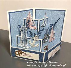 Masculine Birthday Cards, Birthday Cards For Men, Masculine Cards, 3d Cards, Pop Up Cards, Fancy Fold Cards, Folded Cards, Karten Diy, Nautical Cards