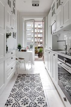 small-kitchen-design Ways To Decorate A small kitchen closet ideas made easy All White City Apartment Galley Kitchen All White City Apartment Galley Kitchen small-kitchen-design Ways To Decorate A small kitchen closet ideas made easy White Galley Kitchens, Galley Kitchen Design, Galley Kitchen Remodel, New Kitchen, Cool Kitchens, Country Kitchen, Kitchen Remodeling, Kitchen Living, Small Kitchens