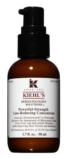 Kiehl's Dermatologist Solutions Powerful-Strength Line-Reducing Concentrate is formulated with a high concentration of per cent pure vitamin C, known for it. Cindy Crawford Skin Care, Philosophy Skin Care, Love Your Skin, Skin Treatments, Facial Care, Organic Skin Care, Strength, Pure Products