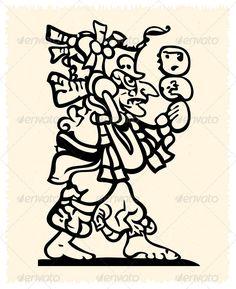 Aztec And Inca Emblem #mascot #south Download : https://graphicriver.net/item/aztec-and-inca-emblem/2684764?ref=pxcr