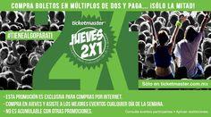 """Jueves 2×1 Ticketmaster: En Ticketmaster en su jueves de 2X1  #Jueves2x1, el día de hoy puedes encontrar boletos para los siguientes eventos/conciertos:  Guadalajara, JAL: Vetusta Morla   Monterrey, NL: Austin Mahone   Zapopan, JAL: Kevin Johansen + The Nada + Liniers """"(BI)VO en México"""""""