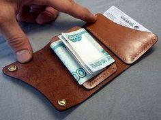 Минипортмоне кожаное Leather Keychain, Leather Pouch, Leather Wallets, Coin Purse Wallet, Card Wallet, Minimalist Leather Wallet, Simple Wallet, Leather Wallet Pattern, Leather Projects