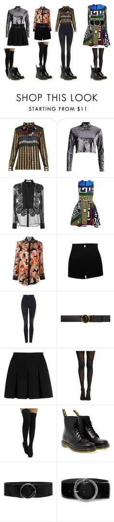 """Blackpink Playing with fire"" by spicy-noodle ❤ liked on Polyvore featuring Dodo Bar Or, River Island, Givenchy, Versace, Topshop, STELLA McCARTNEY, Alexander Wang, Dr. Martens, IRO and Yves Saint Laurent"