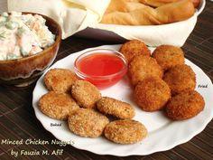 Minced Chicken Nuggets | Fauzia's Kitchen Fun