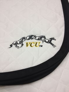 Custom monogrammed pad by So Southern Custom Equestrian Products: http://www.so-southern.com/monogrammed-pads.php