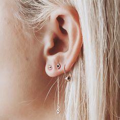 Diamond Kite Earring Set- Rose Gold | Luv Aj