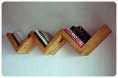 Zig zag floating bookshelf by IrvenInterior on Etsy, $75.00