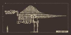 Jurassic bone by Saimen Lee, via Behance