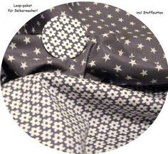 *Stoffpaket ♥Loop♥ für Selbermacher-Sterne mit Streublümchen + Stoff-Button 6 cm Stoffbutton        *für Selbermacher- hier gibt es das Stoffpaket!...