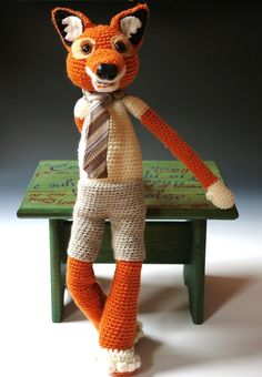 Crochet fox. Oh gosh Rose, we HAVE to find this pattern.  This is just wonderful!