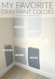 The BEST gray paint colors revealed! The BEST gray paint colors revealed! Interior Paint Colors, Paint Colors For Home, House Colors, Living Room Paint Colors, Hallway Paint Colors, Fixer Upper Paint Colors, Popular Paint Colors, Farmhouse Paint Colors, Gray Interior