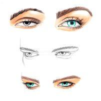 Face Sketching Arte de Grass Eyes Глаза