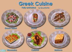 I bring you 6 delicious Greek foods, from appetizer to dessert. Your Sims are sure to enjoy this dietary variation.