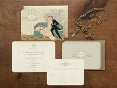 Invitation Set - The Waldorf  GoGoSnap https://www.etsy.com/listing/225186785/roaring-20s-invitation-1920s-invitation?ref=shop_home_active_6