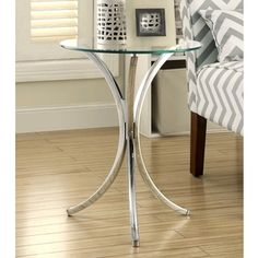 Shop for Talisa Chrome Snack Table with Tempered Glass Top. Get free shipping at…
