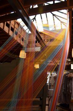 Villefranche Sur Saône, Yarn Display, Exhibition Display, Textiles, Wire Art, Installation Art, Art Installations, Public Art, String Art
