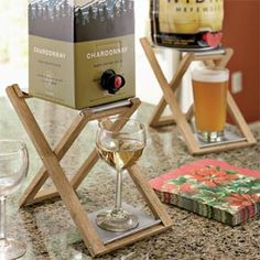 Boxed Wine Stand.  This would really class  up my evenings-