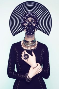 Avante-Garde Fashion, Cyberpunk Style, Ulorin Vex, Black Clothing, Assassin, Science Fiction, Cyber, Future, Futuristic Clothing, Punk Girl by FuturisticNews.com