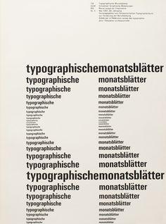 Typographische Monatsblätter, Issue 4 – Emil Ruder, 1961