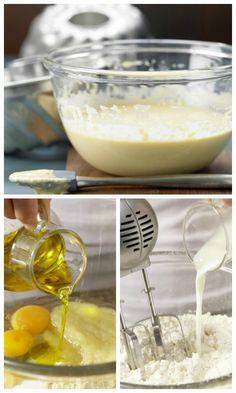 Die ideale Basis für klassische Kasten- und Napfkuchen oder saftige Muffins: Rührteig mit Öl und Apfelmus (Grundrezept) | http://eatsmarter.de/rezepte/ruehrteig-oel-apfelmus