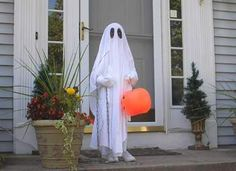 """Is there any costume lazier than this ghost costume?""...luckily this is the only thing my kid wants to do this Halloween."