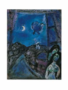 Marc Chagall - Abend am Fenster (1950)