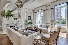 Home Furniture, Furniture Design, 5 Seater Sofa, Living Room Decor Inspiration, Living Room Essentials, White Sofas, Sofa Seats, Beautiful Living Rooms, Apartments For Sale