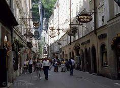 Salzburg, austria. mozart lived down this rd