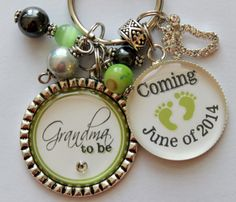 GRANDMA to be GIFT quote keychain present Personalized by TrendyTz, $26.99