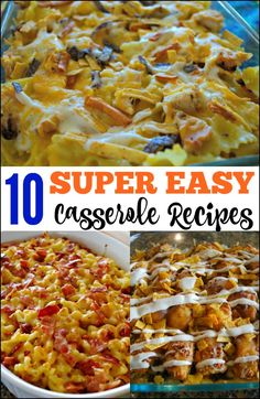 These 10 Easy Casserole Recipes are tested and approved by family. Even the pickiest eaters will love these simple breakfast and dinner casserole. #casseroles #easydinner #dinnercasserole #breakfastcasserole
