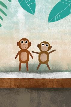 Video still of the nursery rhyme Five Little Monkeys Rhymes Video, Five Little Monkeys, Nursery Rhymes, Snowman, Disney Characters, Fictional Characters, Snoopy, Art, Art Background