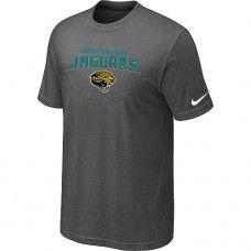 Cheap Men Jacksonville Jaguars Heart And Soul Short Sleeved Dark Grey T-Shirt Sale_Jacksonville Jaguars T-Shirts