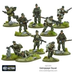 Gebirgsjager squad - Warlord Games Bolt Action Game, Bolt Action Miniatures, Lead Adventure, Plastic Soldier, Edelweiss, Plastic Model Cars, Wargaming Terrain, Military Figures, Military Gear