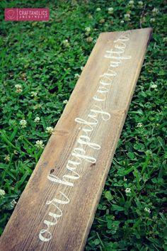 DIY: rustic wood sign