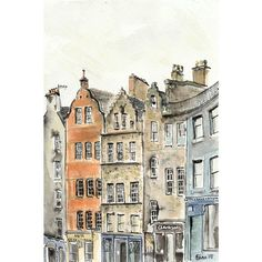 Victoria Street Edinburgh  5 x 7 by artquirk on Etsy, $10.00
