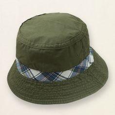 plaid-trim bucket hat  (7.95,childrensplace)