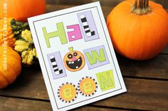Halloween card idea (print-and-cut); One Quick Halloween Card - a Silhouette Studio exercise | Under A Cherry Tree