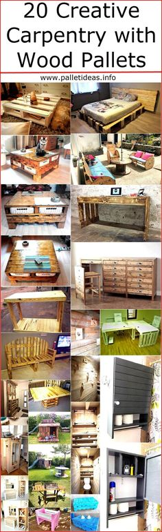 But there are some people who spare some time and spend it on the home decoration to make it look different, there is no need to spend a huge amount of hard earned money for the decoration when the wooden pallets can be used for creating the decorative items as they are available at a low rate, so a person who is looking for the ideas to adorn the home with the handmade items; here are some creative carpentry with wood pallet ideas: