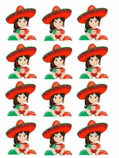 Mexican Birthday Parties, Edible Printing, Bottle Cap Images, Mexican Art, Cupcake Toppers, Stickers, Disney Characters, Fictional Characters, Disney Princess