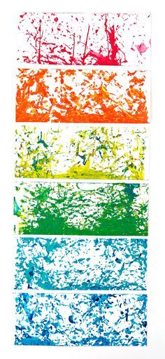 Shake painting - quick and easy mess-free art project for kids