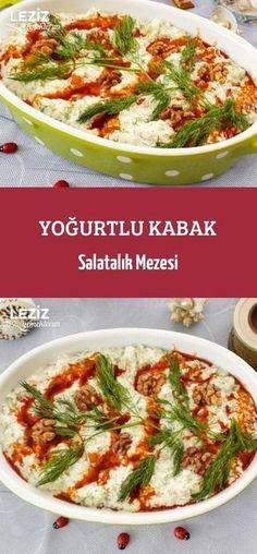 Yoğurtlu Kabak Salatalık Mezesi – Kahvaltılıklar – Las recetas más prácticas y fáciles Cucumber Appetizers, Best Appetizers, Delicious Vegan Recipes, Yummy Food, Tasty, Easy Cooking, Cooking Recipes, Turkish Recipes, Ethnic Recipes