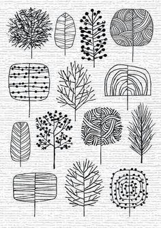 best ideas for drawing ideas zentangle doodles Autumn Trees, Autumn Forest, Tree Forest, Art Plastique, Zentangles, Zentangle Patterns, Doodle Patterns, Easy Zentangle, Doodle Art
