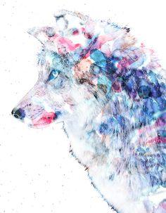 Wolf Art Print by NKlein Design | Society6
