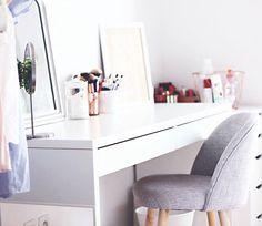 rangement maquillage coiffeuse malm ikea scandinave scandinavian make up storage mauricette maisons du monde