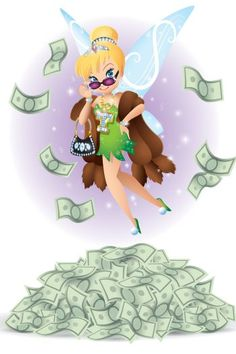 I did this spot Illustration for the Hollywood Reporter -How Tinker Bell Became Disney's Stealthy 0 Million Franchise -